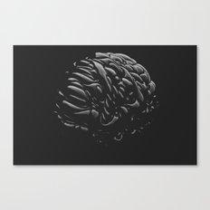 Black Brain Canvas Print