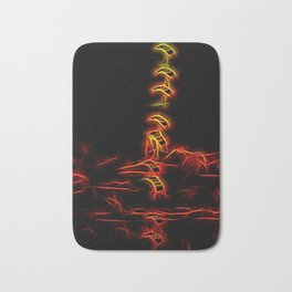 Fiery Falcons Stack Formation Bath Mat