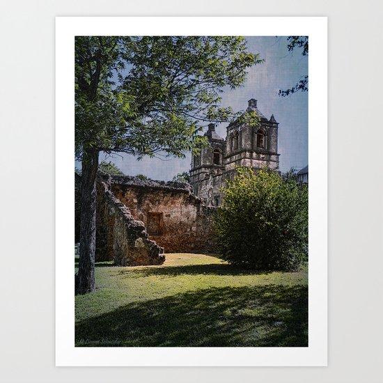 Mission Concepcion - San Antonio, Texas Art Print