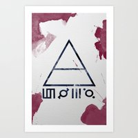 30 seconds to mars Art Prints featuring 30 Seconds of Mars Watercolor by sky0323