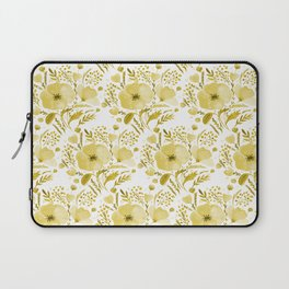 Flower bouquet with poppies - yellow Laptop Sleeve