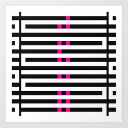 Licorice Bytes, No.7 in Black and Pink Art Print