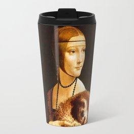 Lady With A Sloth Travel Mug