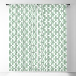 Abstract geometrical  forest mint green white pattern Blackout Curtain