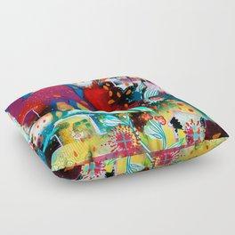 the nordic summer night Floor Pillow
