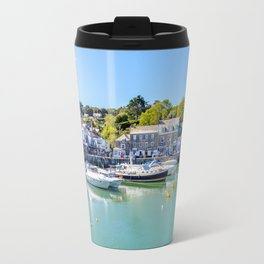 Padstow - Yacht in Harbour Travel Mug