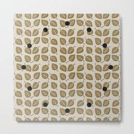 Fall Leaf Pattern Metal Print