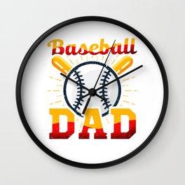 Awesome Baseball Dad for Baseball Parent Wall Clock
