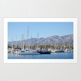 Santa Barbara Sailboats Art Print