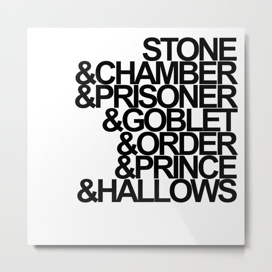 Harry Potter Ampersand Metal Print