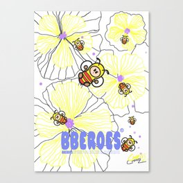 BBEROES Jelly Flower & Bee Canvas Print