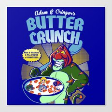 Adam and cringer's Butter Crunch Cereals Canvas Print