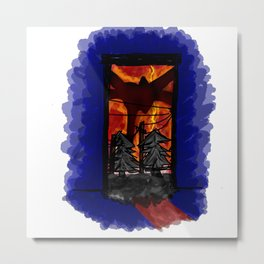 Mind flayer -V2 Metal Print