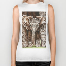 Baby elephant Biker Tank