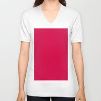 utah V-neck T-shirts featuring Utah Crimson by List of colors