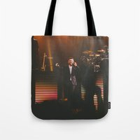 sam smith Tote Bags featuring Sam Smith by sallyclaark
