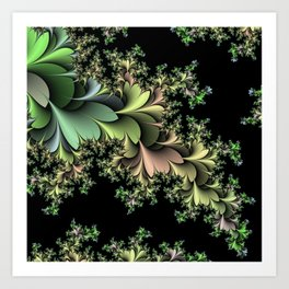 Kale Leaves Fractal Art Print