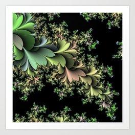 Kale Leaves Fractal Art Print