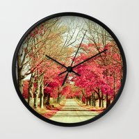 wanderlust Wall Clocks featuring Wanderlust by Olivia Joy StClaire
