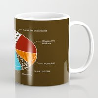 pie Mugs featuring Pie Chart by Graham Dobson