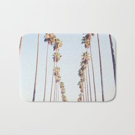 Palm tree stripes Bath Mat