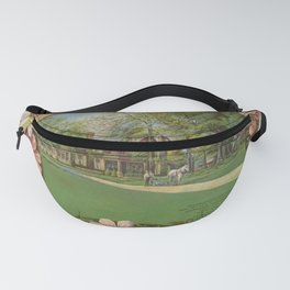 Seed Catalog Garden Floral Fruit Frame Horse Plow Cosmos Fanny Pack