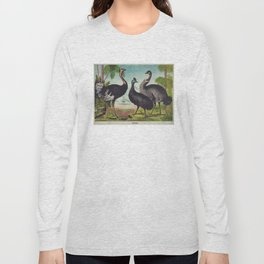 Vintage Illustration of Ostriches (1874) Long Sleeve T-shirt