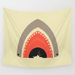 Great White Bite Wall Tapestry