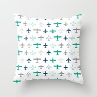 planes Throw Pillows featuring Planes by chantae