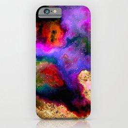 100 Starry Nebulas in Space 082 (Portrait) iPhone Case