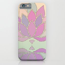 Lotus Flower Pastel Meditation Yoga Symbol iPhone Case