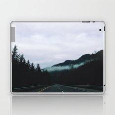 road through the fog Laptop & iPad Skin