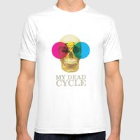CYCLE MEDIUM Mens Fitted Tee White