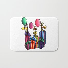 IMAGE #163 - BIRTHDAY GIRAFFES Digital Stamp by Sasayaki Glitter digital stamps- Naz- Bath Mat