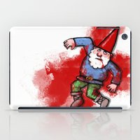 gnome iPad Cases featuring Crushed Gnome by Stephan Brusche