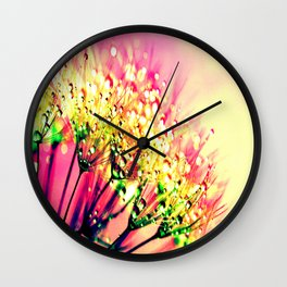Sunset Floral Dew Wall Clock