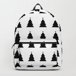 Black Christmas Tree Transparent bg Backpack
