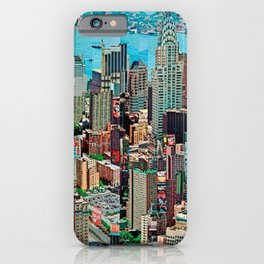 Stressless - New York City Skyline - Empire State Building Photograph on Canvas by Serge Mendjisky iPhone Case