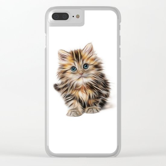 cute kitten Clear iPhone Case