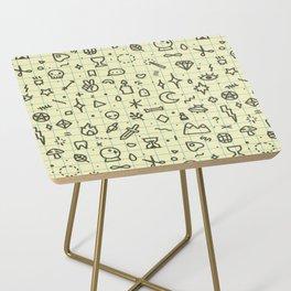 Doodles Pattern Side Table