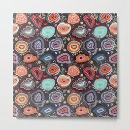 Colorful agates Metal Print
