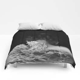 Flower and sea Comforters