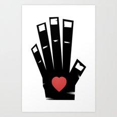 Left Hand Art Print