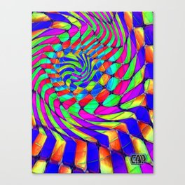 Tumbler #33 Trippy Psychedelic Optical Illusion Design by CAP Canvas Print