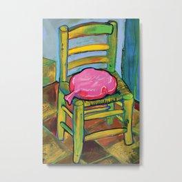 Van Gogh Chair with Whoopi Cushion Metal Print