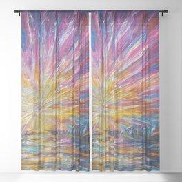 Van Gogh's Style Sunlight Painting Sheer Curtain
