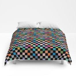 Multicolour Squares Checkerboard Comforters