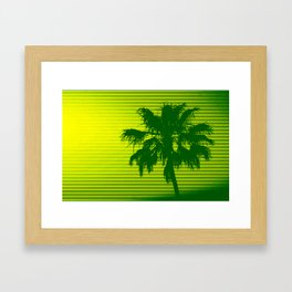 Palm Tree, Green to Yellow Framed Art Print