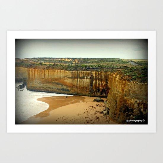 Gigantic limestone Cliffs Art Print