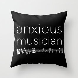 Anxious musician (dark colors) Throw Pillow